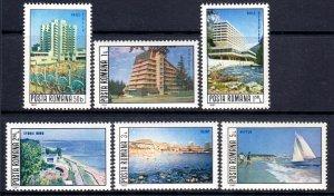 Romania 1982 Resort Hotels & Beaches Complete Mint MNH Set SC 3078-3083