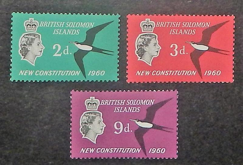 Solomon Islands 106-08. 1961 New Constitution, NH