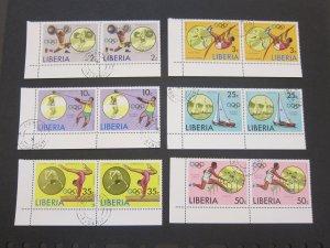 Liberia 1976 Sc 736-41 Olympic pair set NH(CTO)