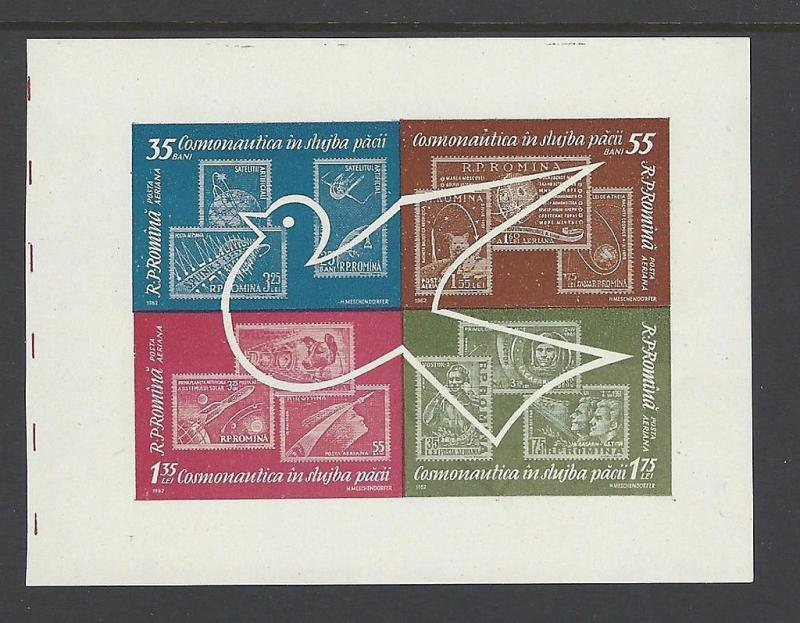 Romania 1962 Space Exploration SS VF MNH (C122a)