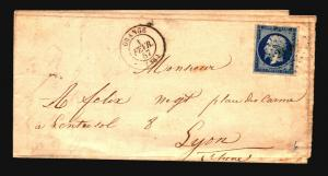 France 1857 Letter Cover / Orance CDS - Z15692