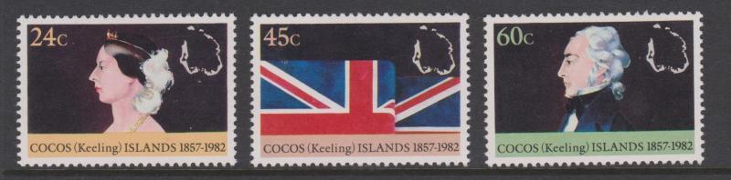 Cocos Keeling Islands Sc#82-84 MNH