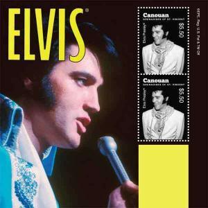 St Vincent - Elvis Presley  Souvenir Sheet SGC1015S