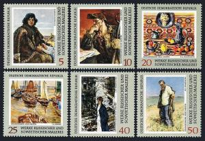 Germany DDR/GDR 1160-1165, MNH. Russian paintings from Dresden Gallery, 1969