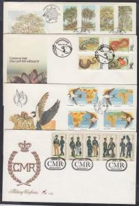 South Africa Ciskei stamp 4 diff. sets 4 FDC Cover 1984 Mi 52-55 +57-69 WS142793