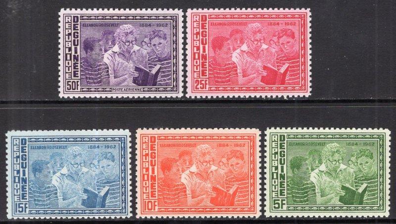 Guinea MNH 336-9,C61 Eleanor Roosevelt Reading To Children 1964 SCV 1.90