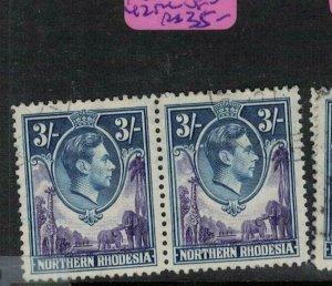Northern Rhodesia SG 42 Pair VFU (7enc)