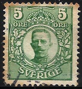 Sweden 1911 Scott# 77 Used