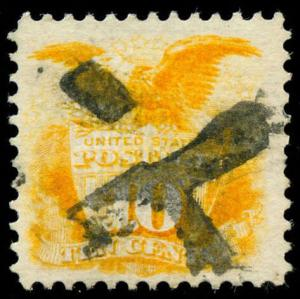 momen: US Stamps #116 Used X JAPAN Cancel PF Cert