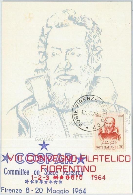 72191 - ITALY - Postal History - MAXIMUM CARD - Galileo Galilei SPACE 1964
