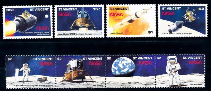 [66186] St. Vincent 1989 Space Travel Weltraum NASA  MNH