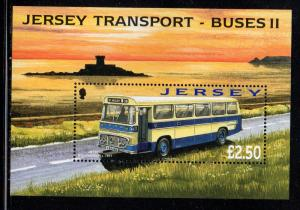 Jersey Sc 1317 2008 Buses stamp sheet mint NH