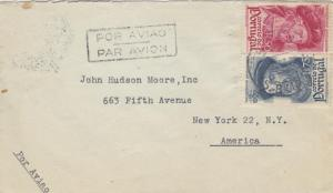 1945, Portugal to New York, NY, Airmail (24087)