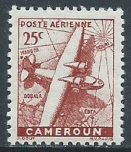 Cameroun, Sc #C15, 25c MH