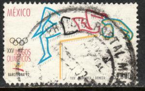 MEXICO 1740, Barcelona Summer Olympics. HIGH JUMP. USED. F-VF. (1368)
