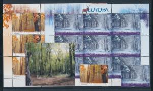 Makedonien stamp Europa CEPT Forest set + mini-sheet pair + block MNH WS100345