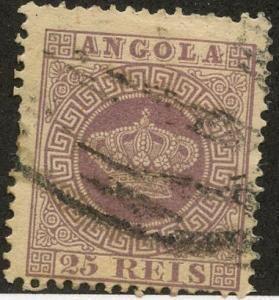 Angola, Scott #12, Used