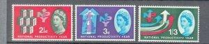 1962 NATIONAL PRODUCTIVITY YEAR SET PHOSPHOR UMM/MNH