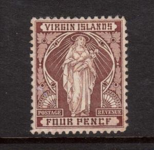 Virgin Islands #24a VF Mint PENCF Variety