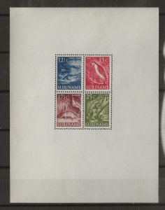 Suriname 1953 Scenes  sheet of 4   MNH