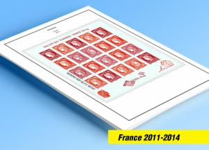 COLOR PRINTED FRANCE 2011-2014 STAMP ALBUM PAGES (126 illustrated pages)