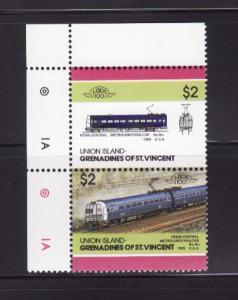 Union Island 54 MNH Trains, Locomotive