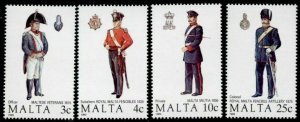 Malta 723-6 MNH Military Uniforms