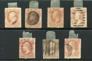 UNITED STATES OFFICIALS SCOTT#O114/20   USED  AS SHOWN--SCOTT VALUE $177.00
