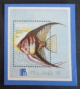 Fish, MNH **, Block, FINLAND 1988 (2290-Т)