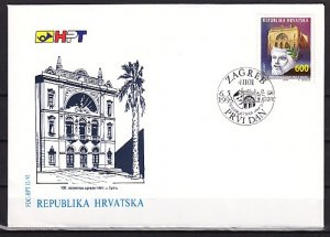 Croatia, Scott cat. 156. National Theater issue. First day cover. ^