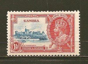Gambia 125 King George V Jubilee Mint Hinged