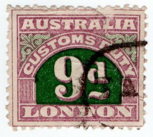 (I.B) Australia Revenue : Customs Duty 9d (small format)