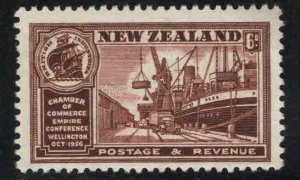New Zealand Scott 222 MNH** Ship stamp wmk 61