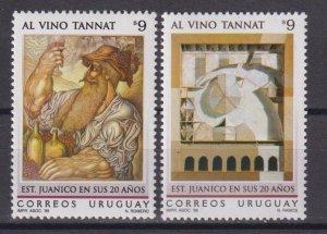 Uruguay 1999 The 20th Anniversary of Juanico Wine Cellar  (MNH)  - Picture, Wine