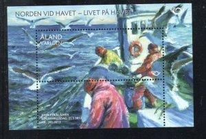 Aland Finland Sc 327 2012 Fishermen at Sea stamp sheet mint NH