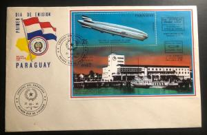 1981 Paraguay First Day Souvenir Cover 50th Anniversary First Zeppelin Flight