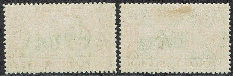 FALKLAND ISLANDS 1938 KGVI DECEPTION ISLAND 10/- 2 SHADES
