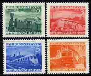 Yugoslavia 1949 Railway Centenaryperf set of 4 mounted mi...