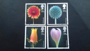 Great Britain 1987 Flowers Used