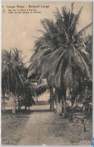 Congo Belge / Belgian Congo POSTAL HISTORY - POSTAL STATIONERY CARD:  PALM TREES