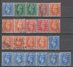COLLECTION LOT # 3848 GB #280-4 21 STAMPS INVERTED WTMK 1937+ SWCV+$23