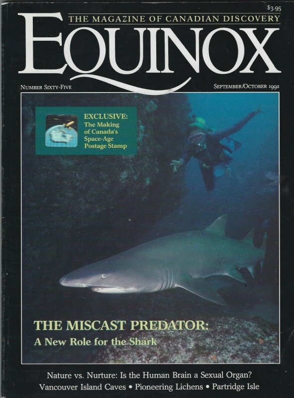 EQUINOX MAGAZINE SEP-OCT 1992 THE MAKING OF CANADA'S SPACE-AGE POSTAGE STAMP