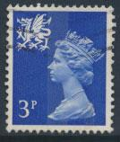 Great Britain Wales  SG W15 SC# WMMH2 Used 3p Machin  see scan 1 center band