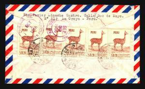 Peru 1958 Airmail Cover to USA - Z14607