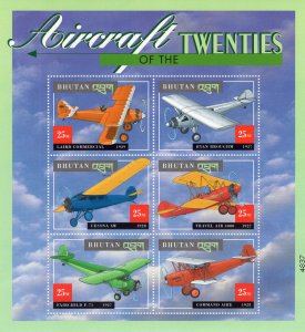 Aircraft of the Twenties Flight Flying Machines Postage Stamp Pane Aviation