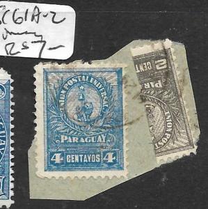 PARAGUAY (PP2604B) SC 61A-2  VFU ON PIECE