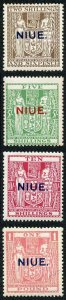 Niue SG51/4 1931 High Values set of 4 M/Mint (light toning)