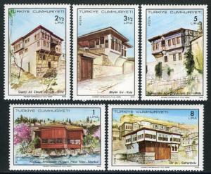 Turkey 2104-2108, MI 2469-2473, MNH. Turkish Houses, 1978
