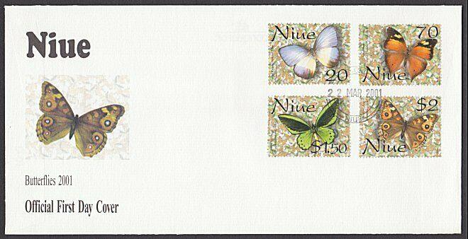 NIUE 2001 Butterfly set FDC................................................27819