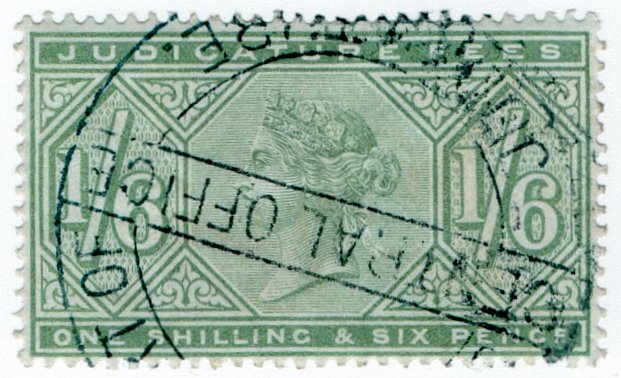 (I.B) QV Revenue : Judicature Fees 1/6d (1881)